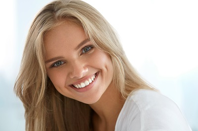 Closeup Of Beautiful Happy Girl With Perfect Smile,