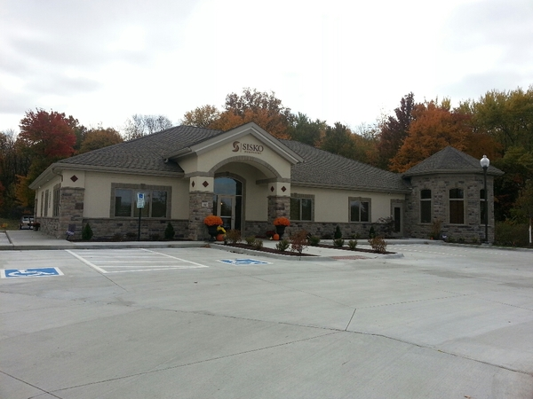 Exterior Dental Office and parking lot from side angle