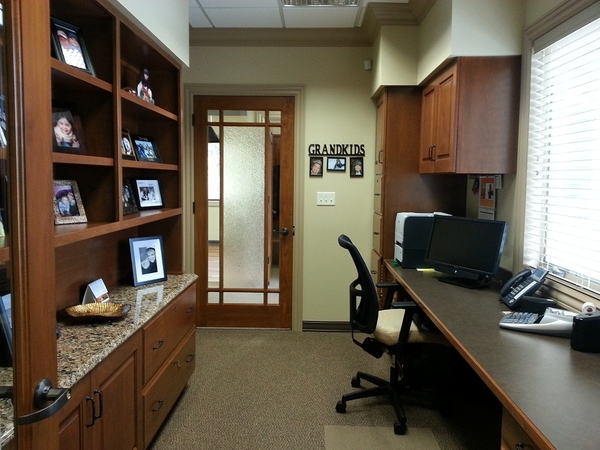 Back office of dental office named Julies Office