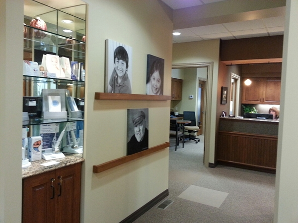 Product Display and Black and White Photos on Canvas