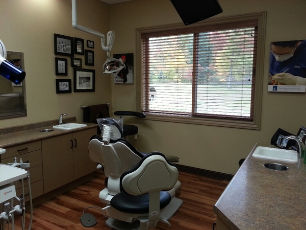Dental Exam Room with window and dental equipment