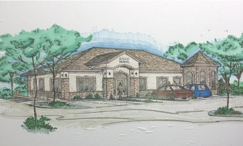 Colored Pencil Drawing of Dental Office Rendering