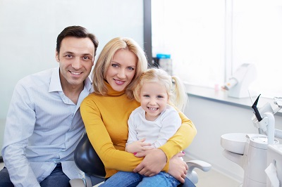 Family in the dentist's office