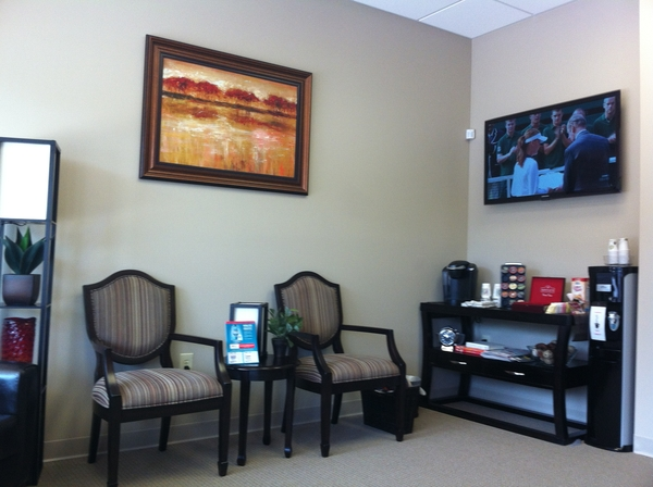 Haddonfield family dental practice lobby seating