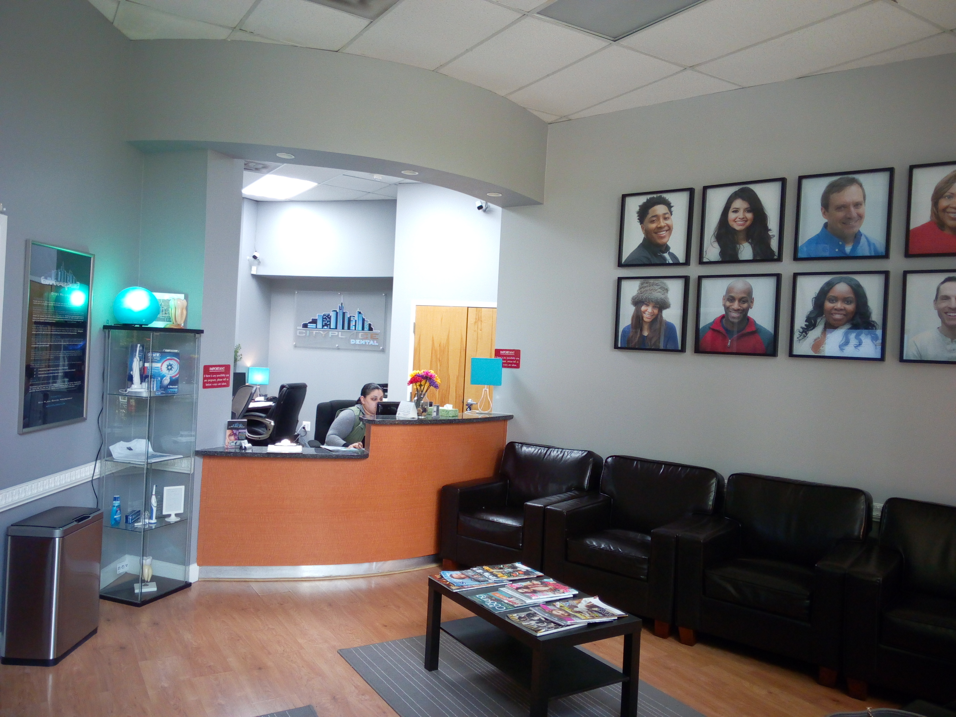 City Place Dental Reception Room