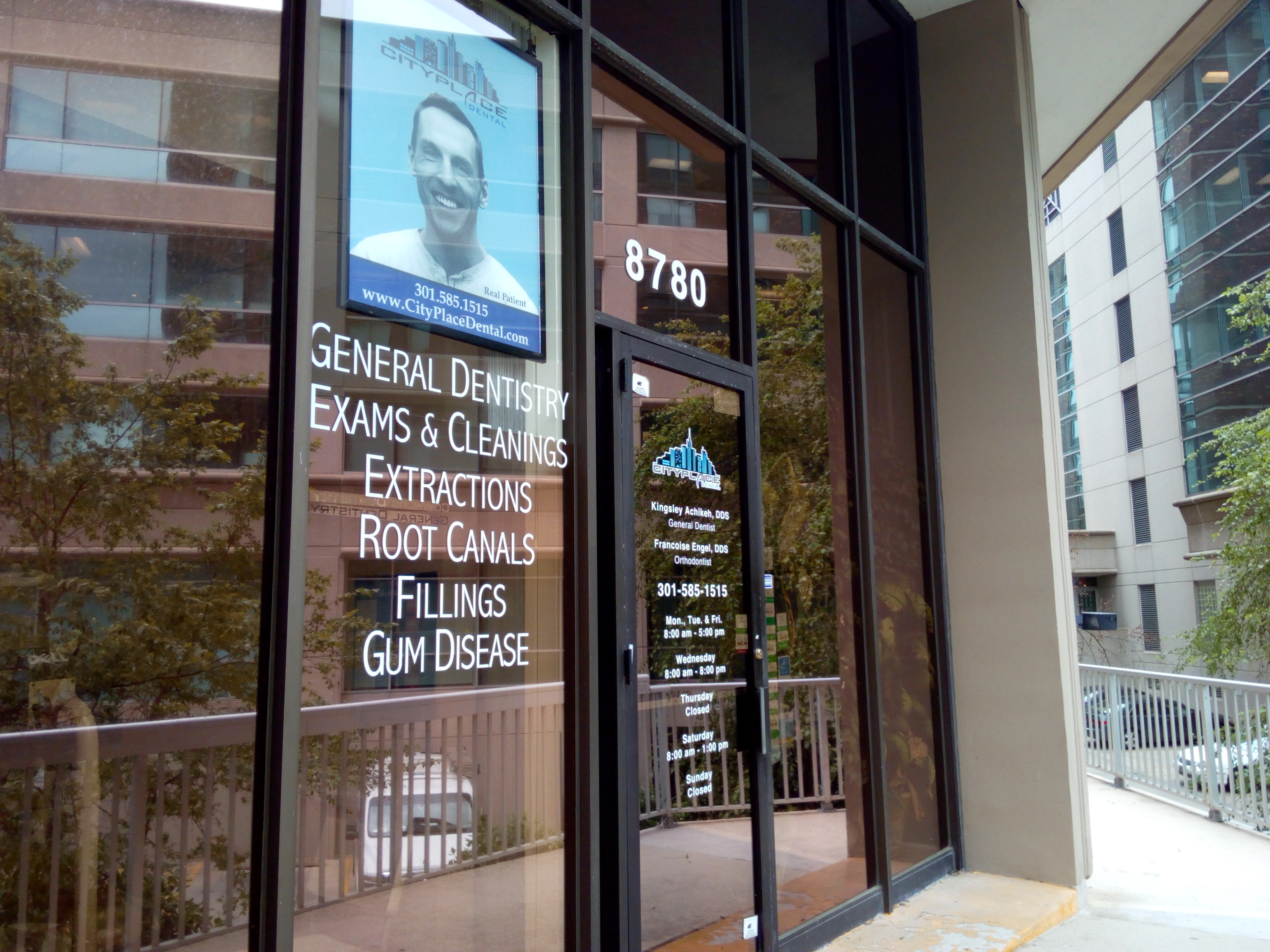 City Place Dental Laser Dentistry-Exterior Window for Dental Office