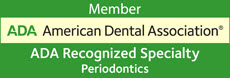 Member Logo for ADA American Dental Association ADA Recognized Specialty Periodontics