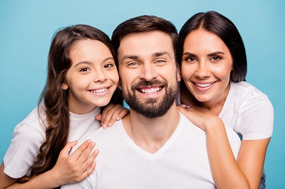 Close up image of happy family
