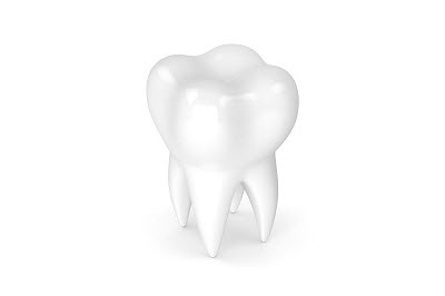 3d render of tooth isolated on white background