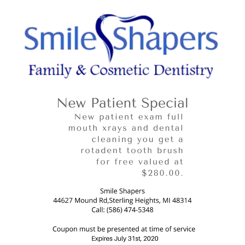 new patient exam special smile shapers dental sterling heights mi