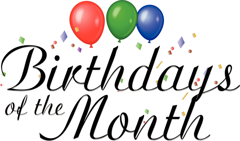 Birthdays of the month