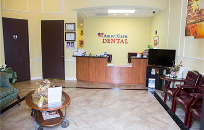 Image of reception desk at AmeriCare Dental in Houston, TX