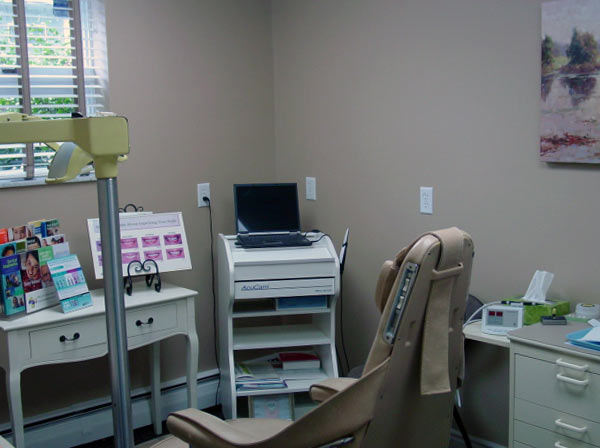 Another Examination room at Dr. Mock, Associates in General Dentistry in Springdale