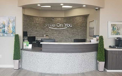 reception desk of Smile On You Dentistry - Dentist in Lake Forest, CA