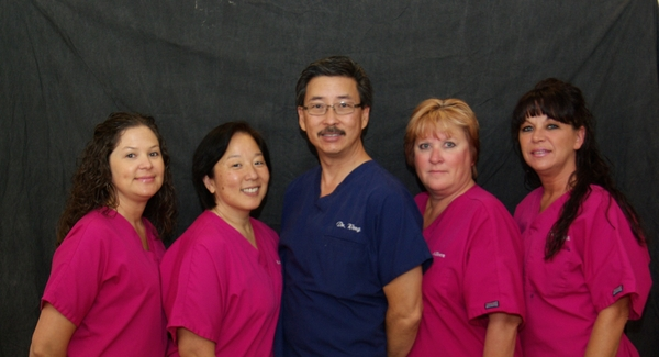 Team photo of Dr. Darren J. Wong and his staff
