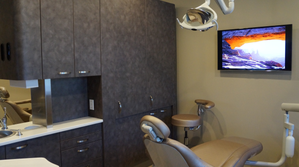 Watch TV during your dental appointment at RB Family & Cosmetic Dentistry