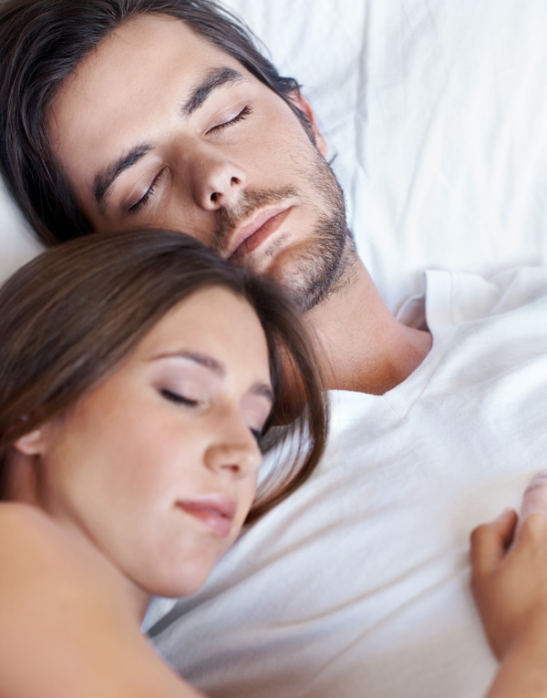 Sleep Apnea Treatment-Two People Sleeping in Bed