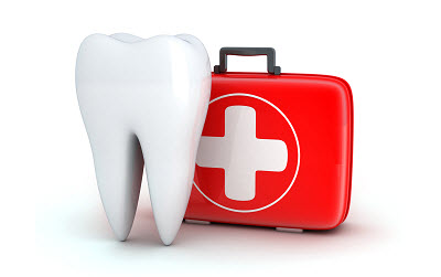 Illustration of tooth and emergency kit