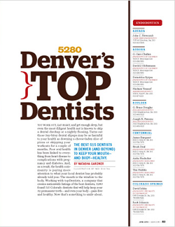 Image of 5280 Magazine's Denver's Top Dentists Article