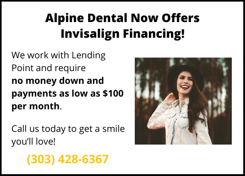 Invisalign Financing available at Alpine Dental Center in Thornton CO