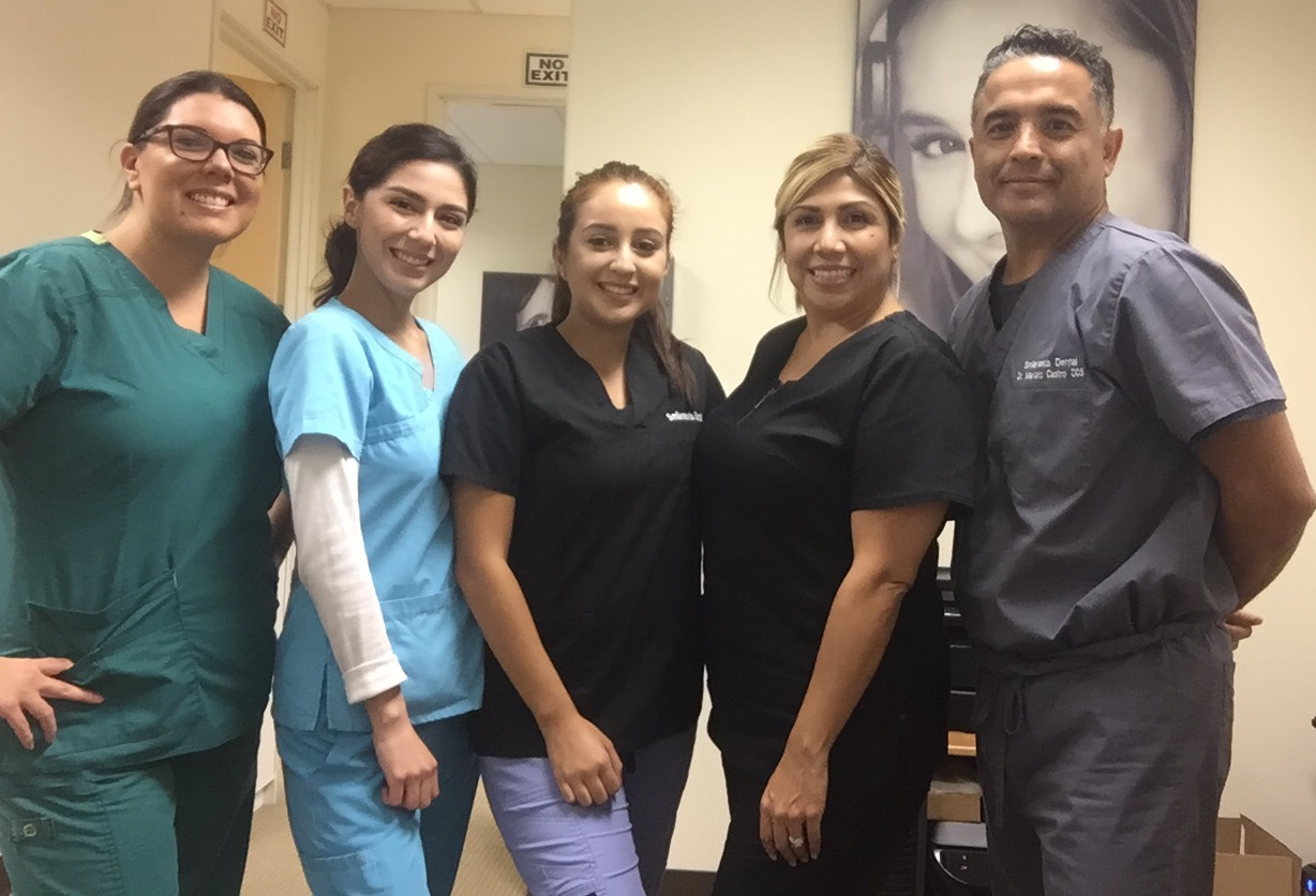 Dr. Mariano Castro Dentistry Team in Upland