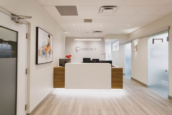 reception area langley perio & implants
