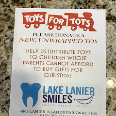 Toys for tots at Buford Dentist, Lake Lanier Smiles