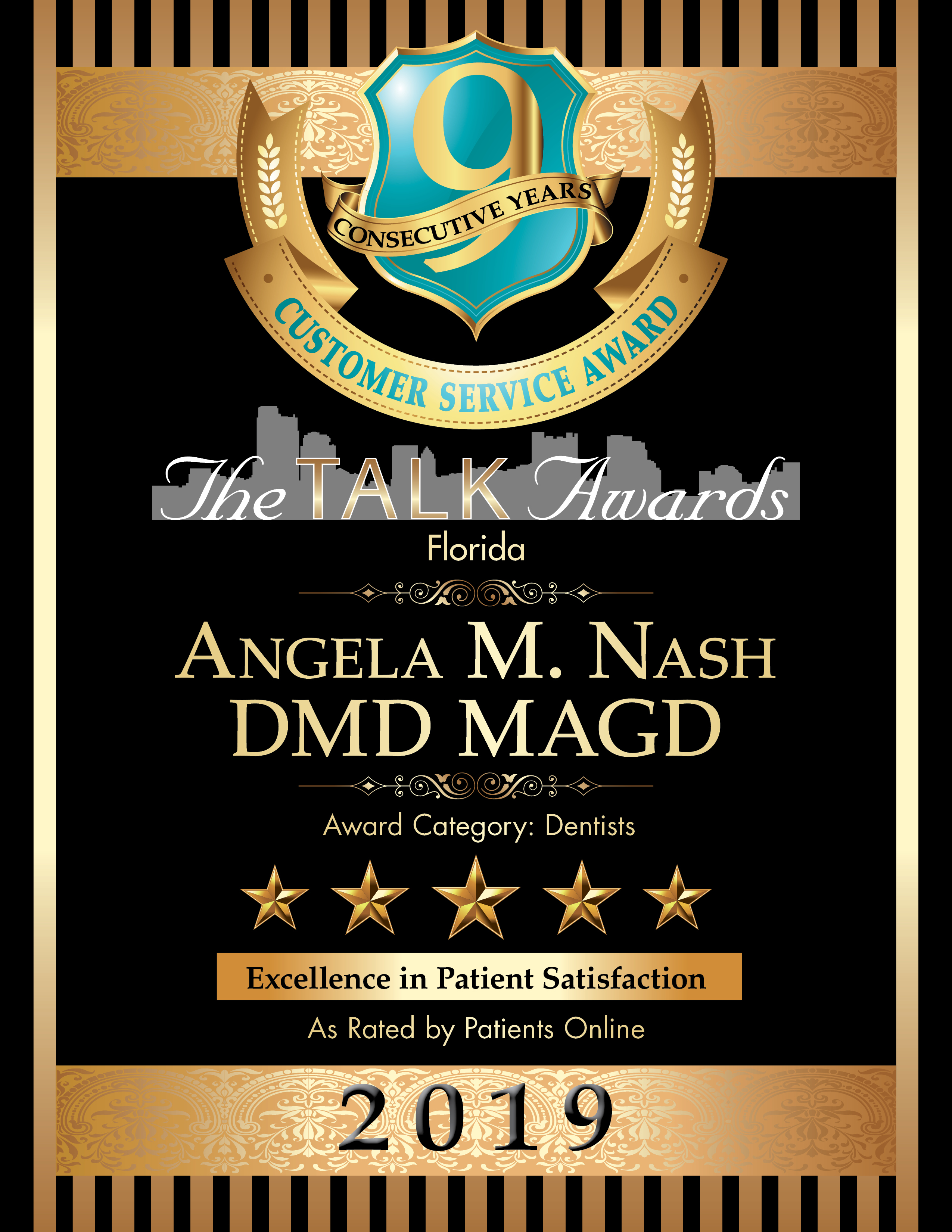 The Talk Awards Certificate