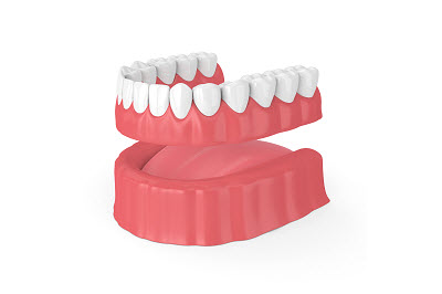Image of full denture in 3D